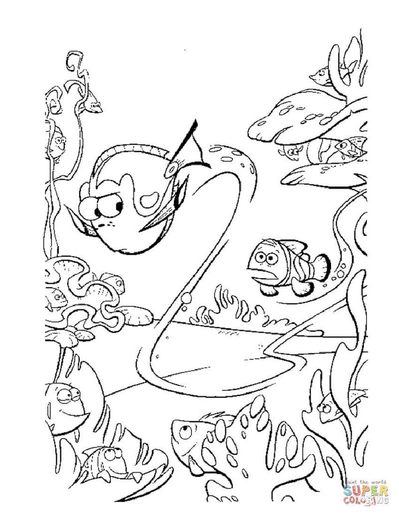 Finding Dory Coloring Pages For Your Children Finding