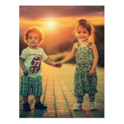 Shop Children holding hands sunset love postcard created by Jesus_preachers.