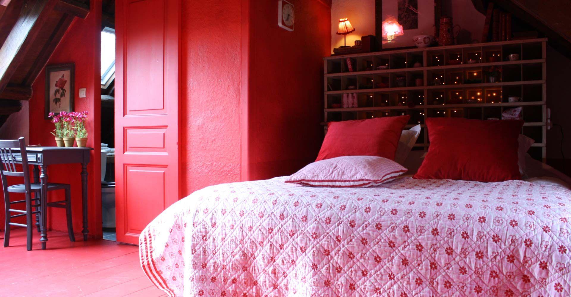 chambre d hà tes rouge à la maison des lamour en bretagne nos