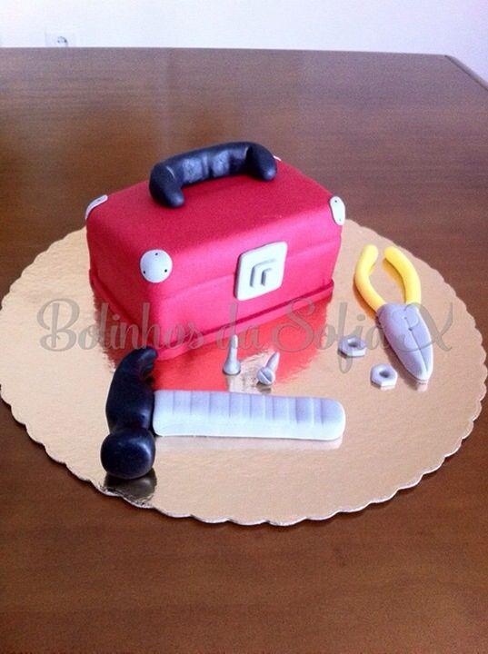 Cake Decorating Tool Box Tool Box Cake # Bolo Caixa De Ferramentas # Handyman Cake  Cakes
