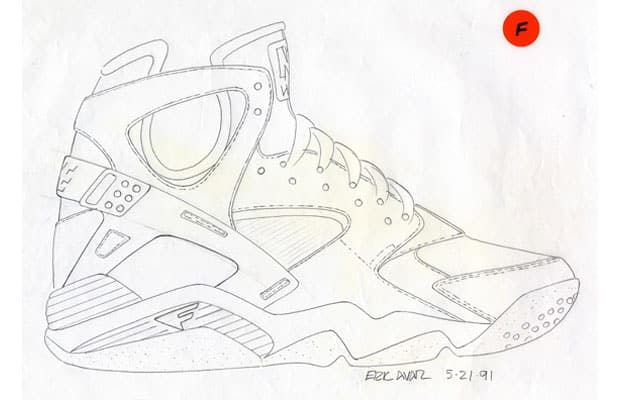 25 Must-See Design Sketches of Your Favorite SneakersNike Air Flight  Huarache