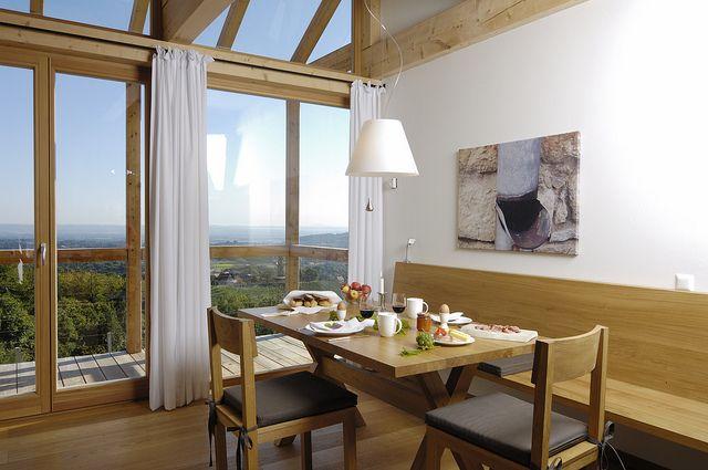 PURESLeben // Steinriegel // Sitzecke im Wohnbereich // Premiumferienhaus in der Steiermark