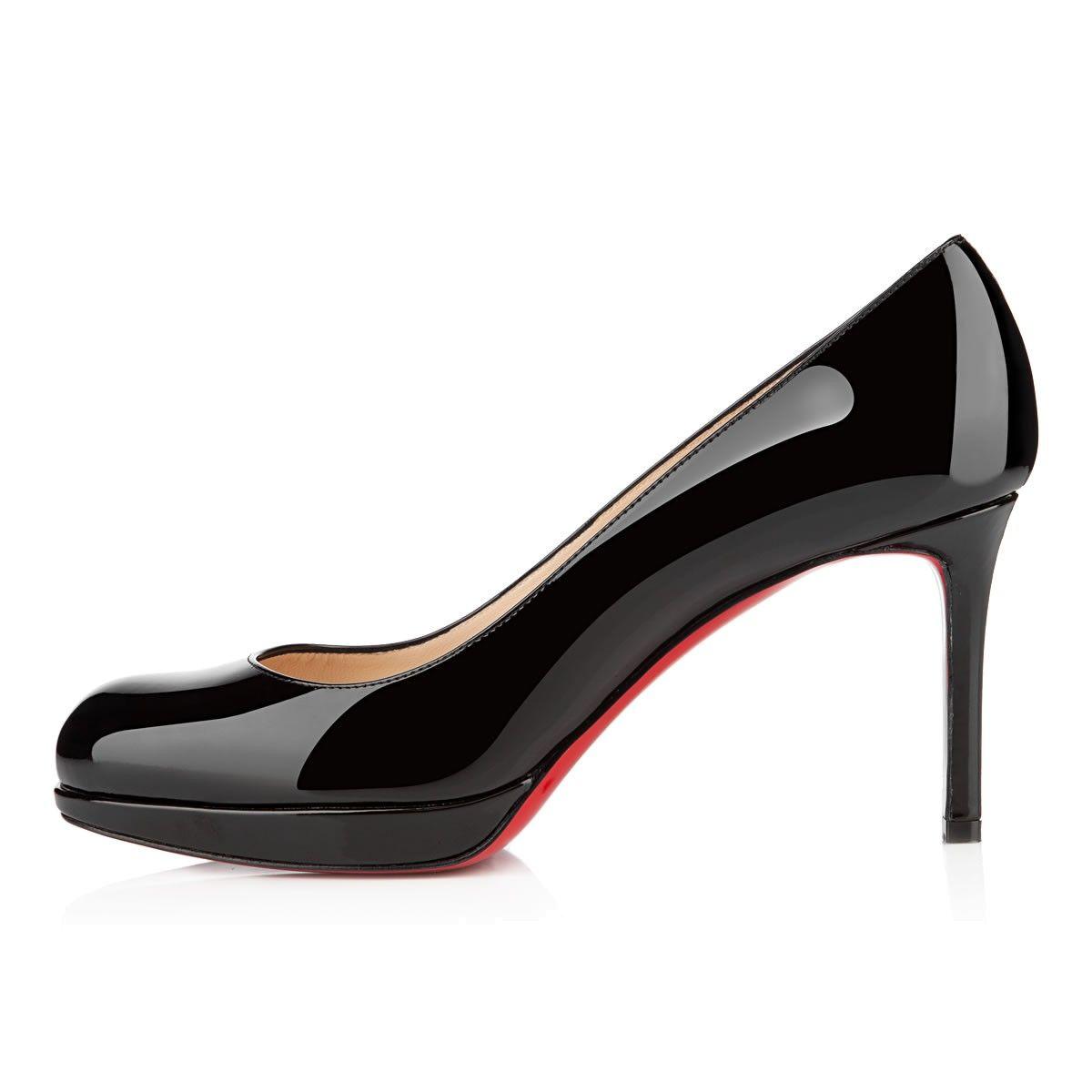 SIMPLE PUMP 85 Black Patent Leather Women Shoes Christian Louboutin
