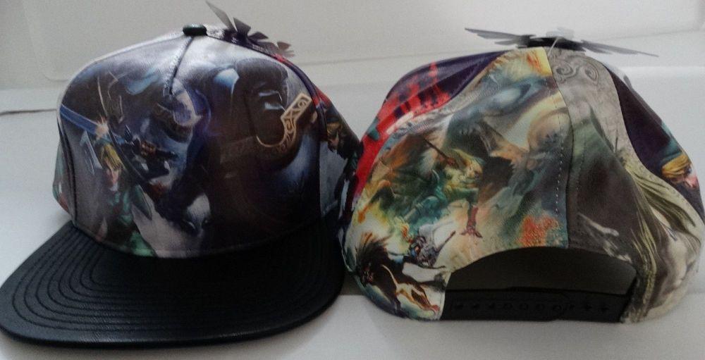 Legend Of Zelda Nintendo Video Game Faux Leather PU Snap Back Hat Nwt   LegendOfZelda  BaseballCap eab531a5221a