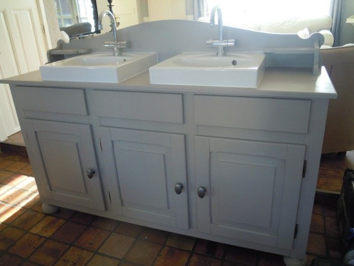 Badkamermeubel hout zelf maken google zoeken badkamer ideeen pinterest - Badkamermeubels oude stijl ...