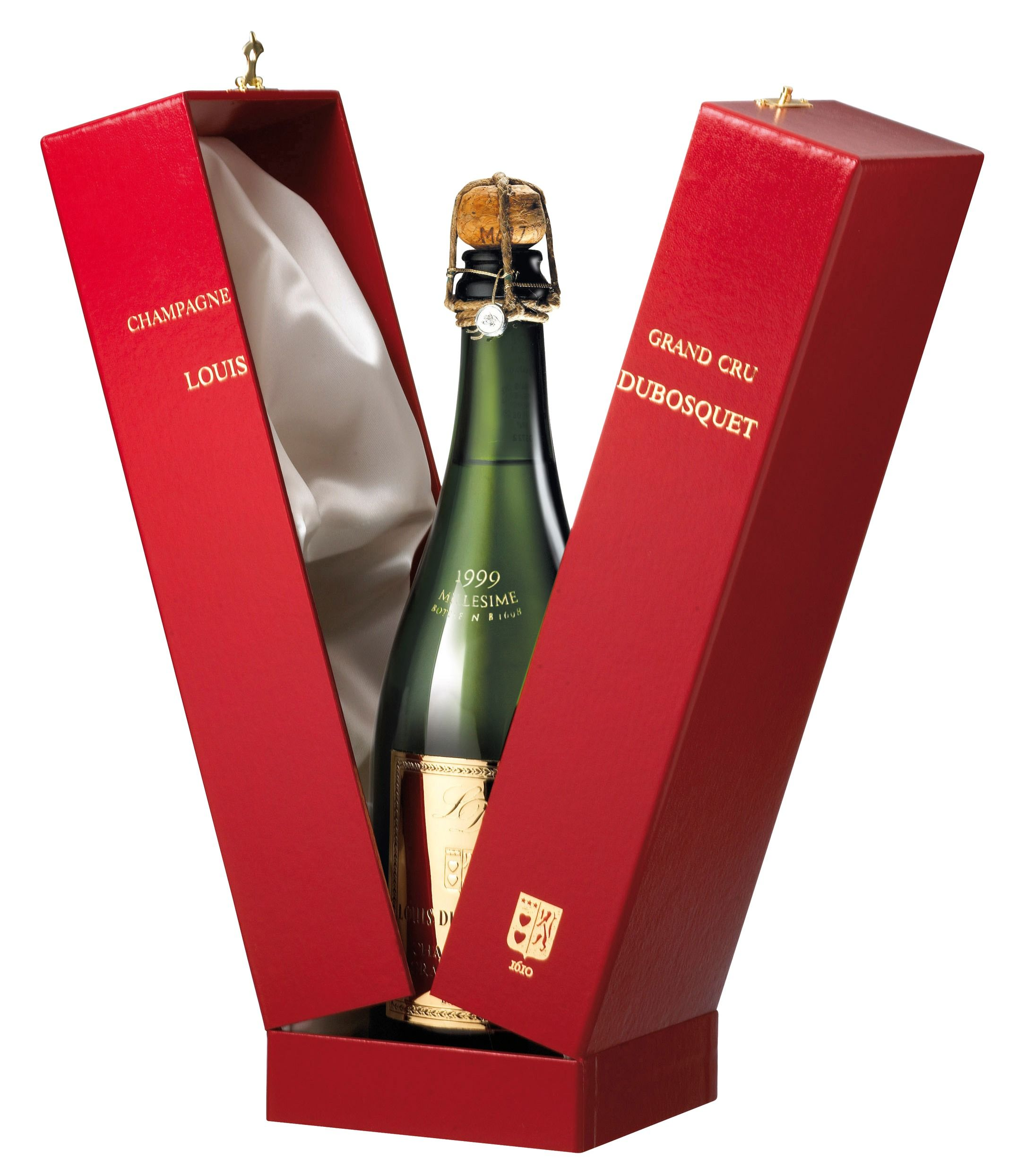 Champagne Louis Dubosquet 100 Grand Cru With Gift Box Only The Great Vintages Are Put Aside And Millisi Bottle Packaging Beverage Packaging Wine Advertising