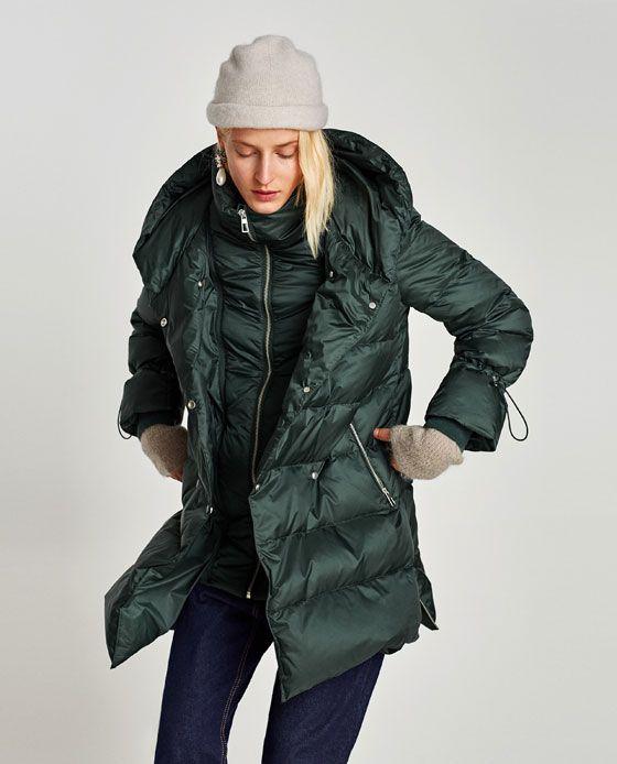 Looks abrigo verde zara