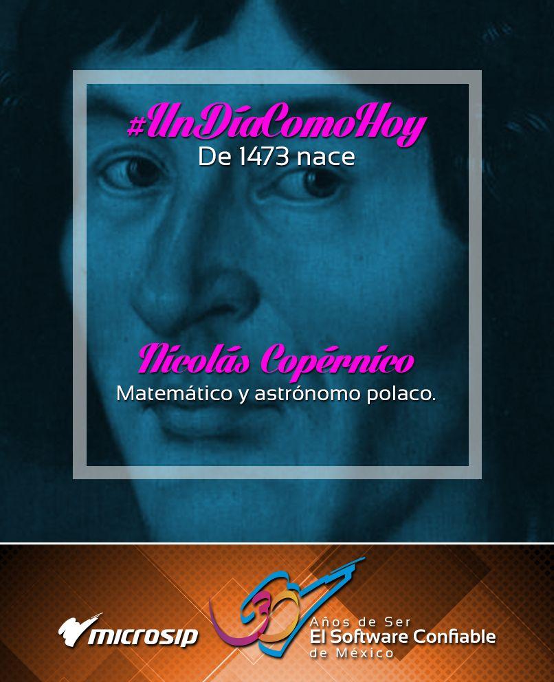 #UnDíaComoHoy 19 de febrero pero de 1473 nace Nicolás Copérnico, matemático y astrónomo polaco.