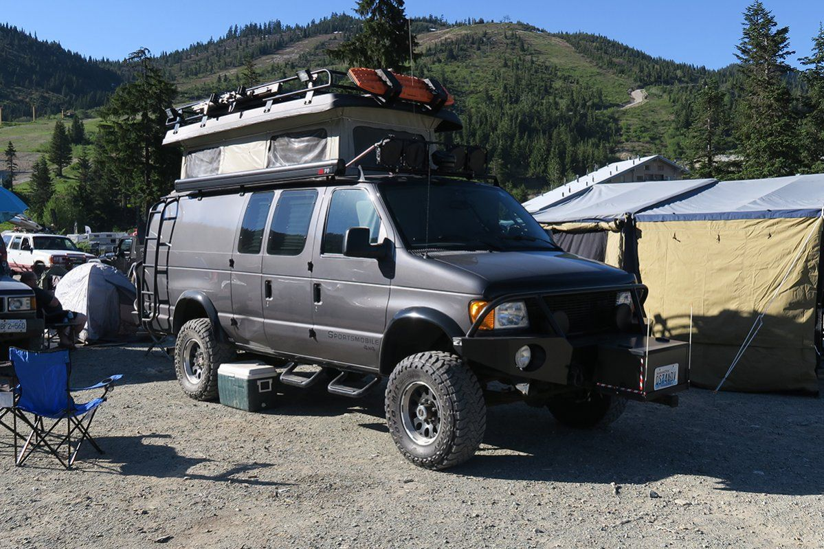 Sportsmobile With Aluminess Gear At The Bc Overland Rally Overland Truck Sportsmobile 4x4 Camper Van