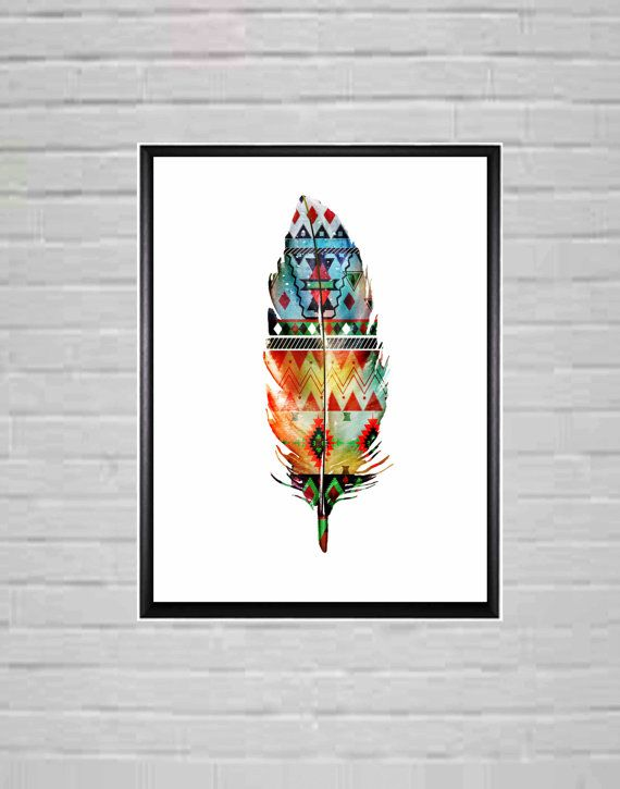Feather wall art Feather Wall decor A1 Poster Feather