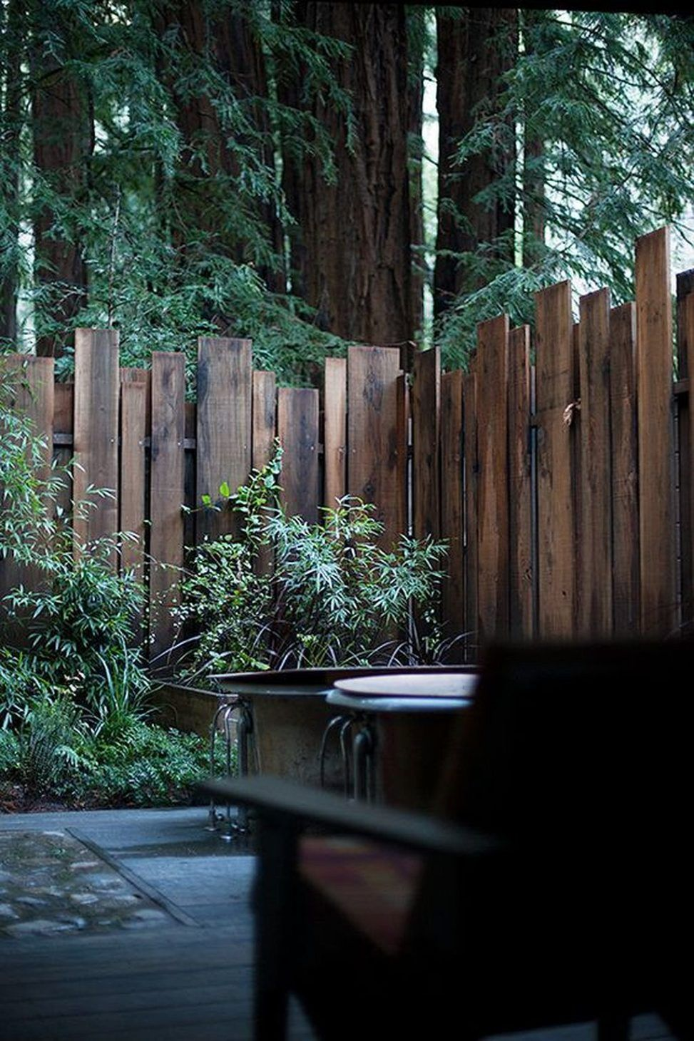 Little Cabin Fence In The Wood With Images Backyard Fences