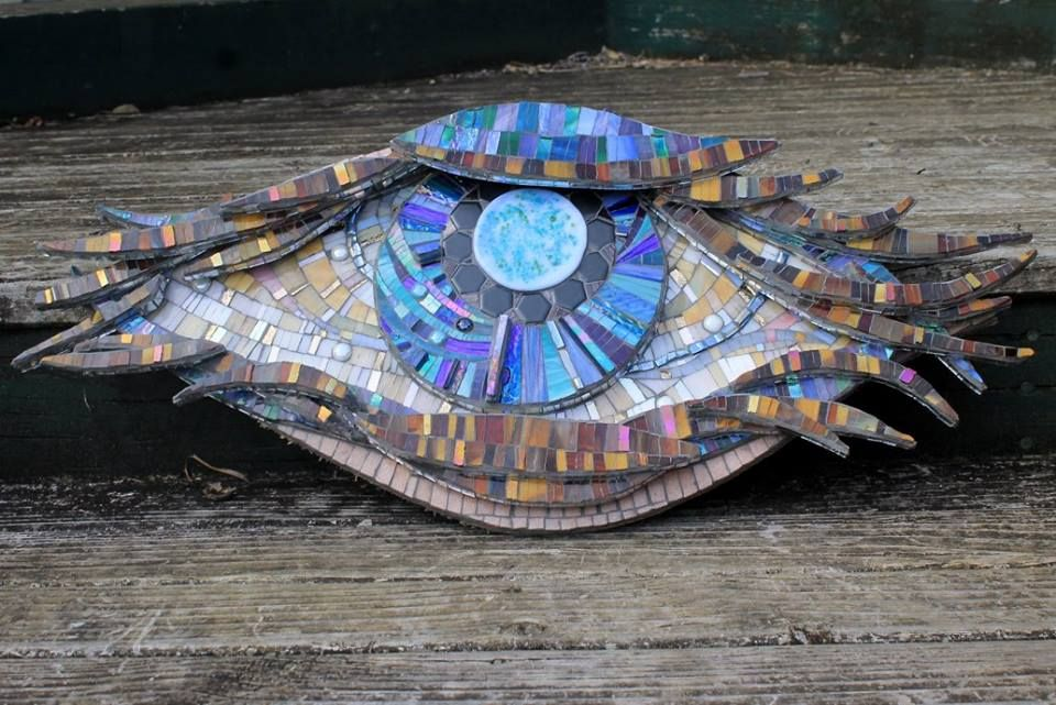 Colours of my soul - 27 pieces in 5 layers stained glass and mirror mosaics by BEAUTIFULLY BROKEN MOSAICS - Sandra Holmes. Waiuku New Zealand