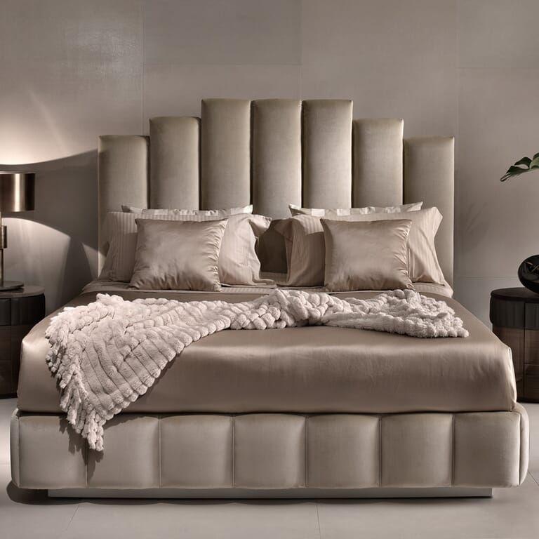 Luxury Italian Designer Velvet Upholstered Bed In 2020 Velvet