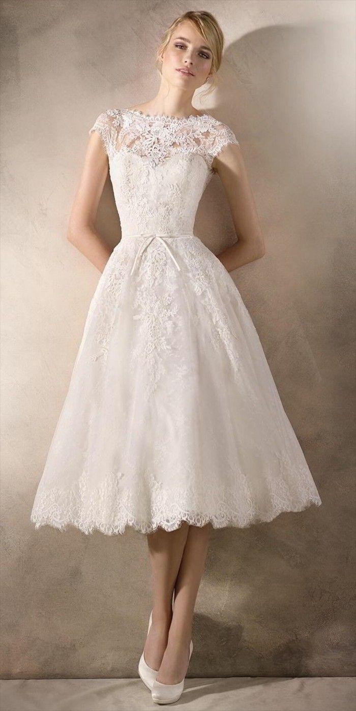 Hochzeitskleid Halblang – Valentins Day  Brautkleid kurz