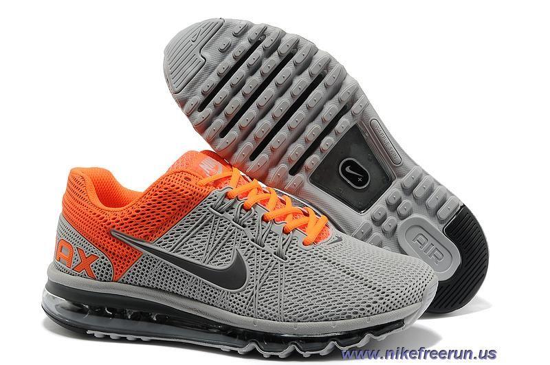 big sale 35127 814ee Mens Nike Air Max 2013 Wolf Grey Metallic Dark Grey Total Orange Shoes Sale