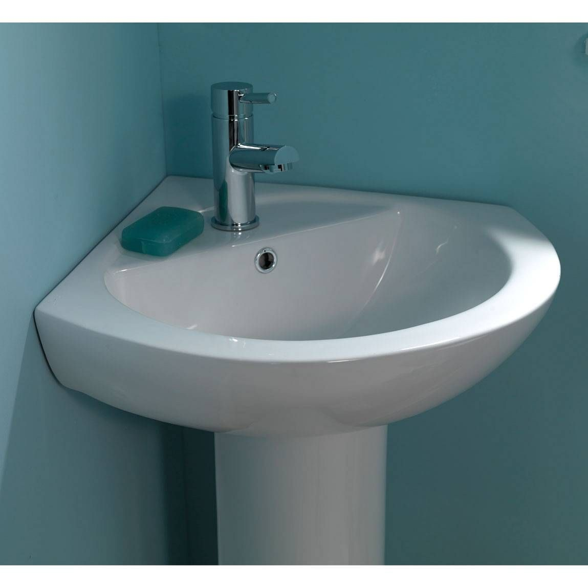 The White Palm Corner Basin Is Simple Stylish And Ideal For Small Uniquely Shaped Bathrooms
