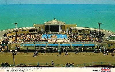 Dennis postcard the lido worthing unused circa 1970 39 s for Pool design 1970