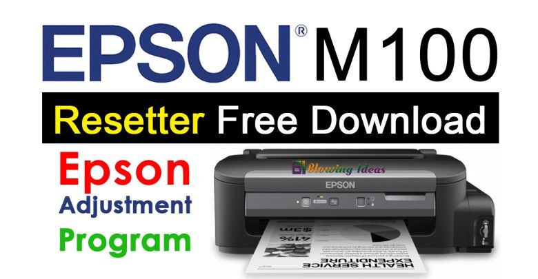 Epson M100 Resetter Adjustment Program Free Download Epson Tank Printer Ink Tank Printer