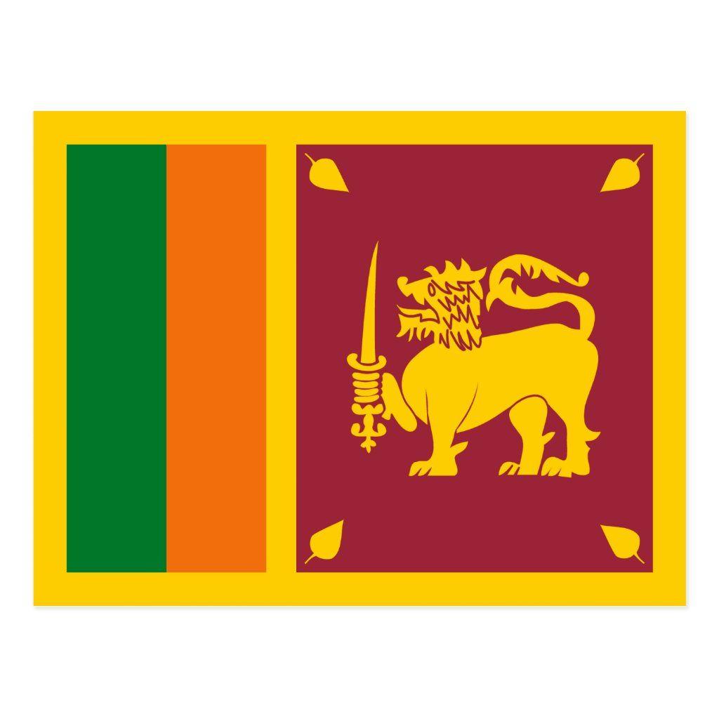 Sri Lanka Flag Postcard Zazzle Com In 2020 Sri Lanka Flag Sri Lanka Flag