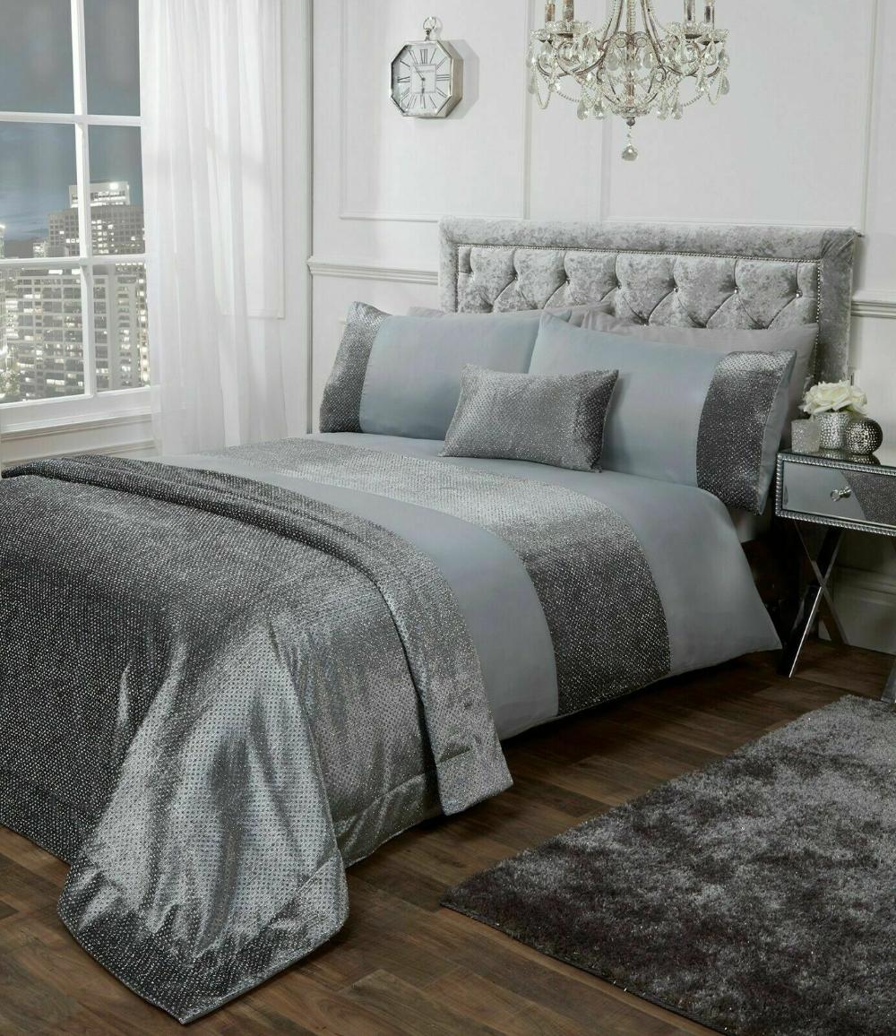 Roomee Cotton Velvet Panel Duvet Cover With Pillow Case Bedding Set Gift Idea Ebay Duvet Covers Duvet Bedding Sets
