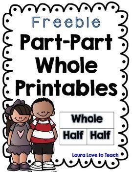 FREE Part Part Whole Worksheets | Kindergarten | Pinterest ...