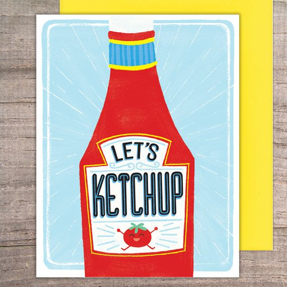 Lets ketchup greeting card thinking of you catch up hello lets ketchup greeting card thinking of you catch up hello friendship missing you funny tomato pun m4hsunfo