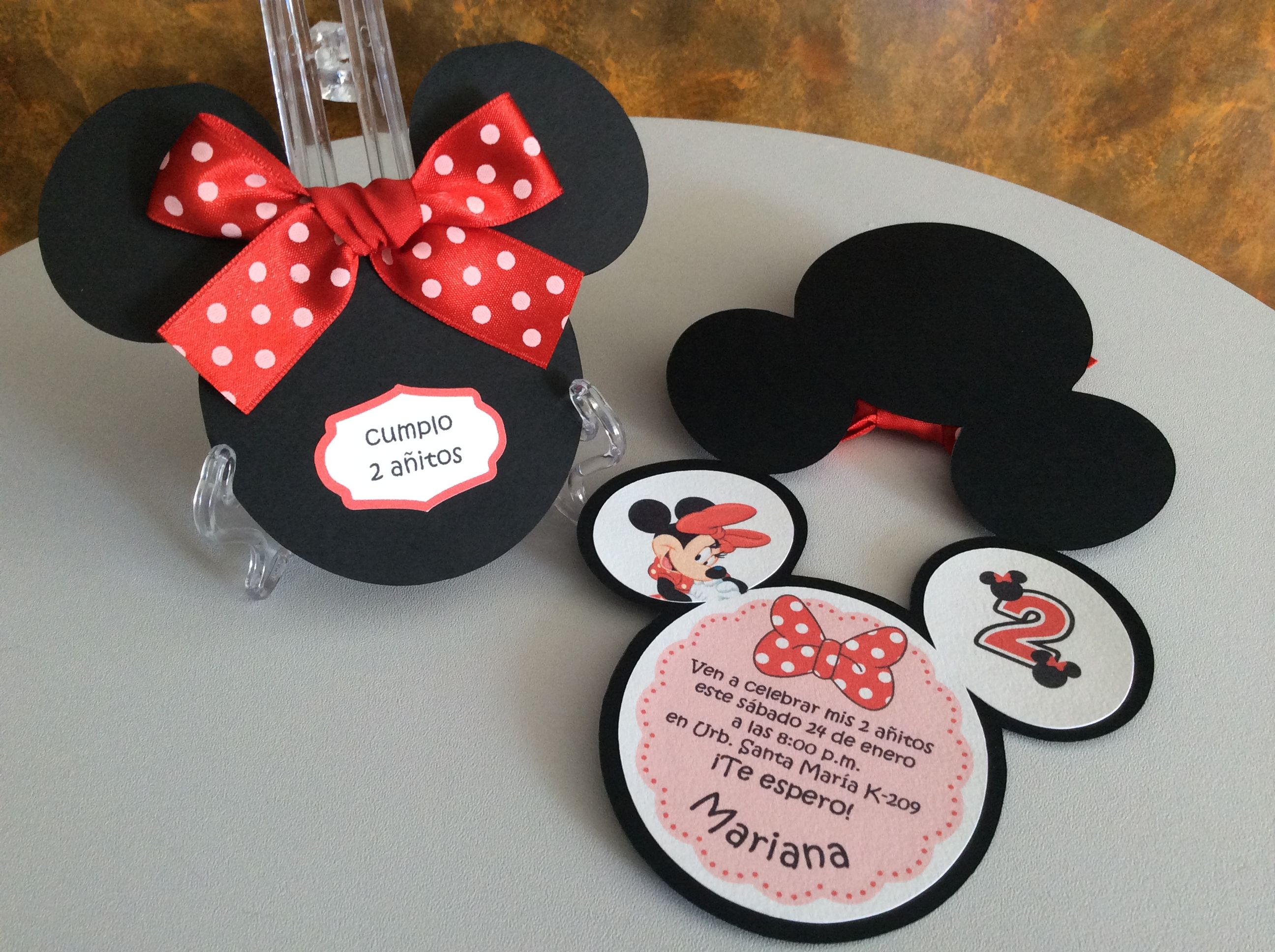 Minnie Mouse Invitation Invitaciones Minnie Invitación De