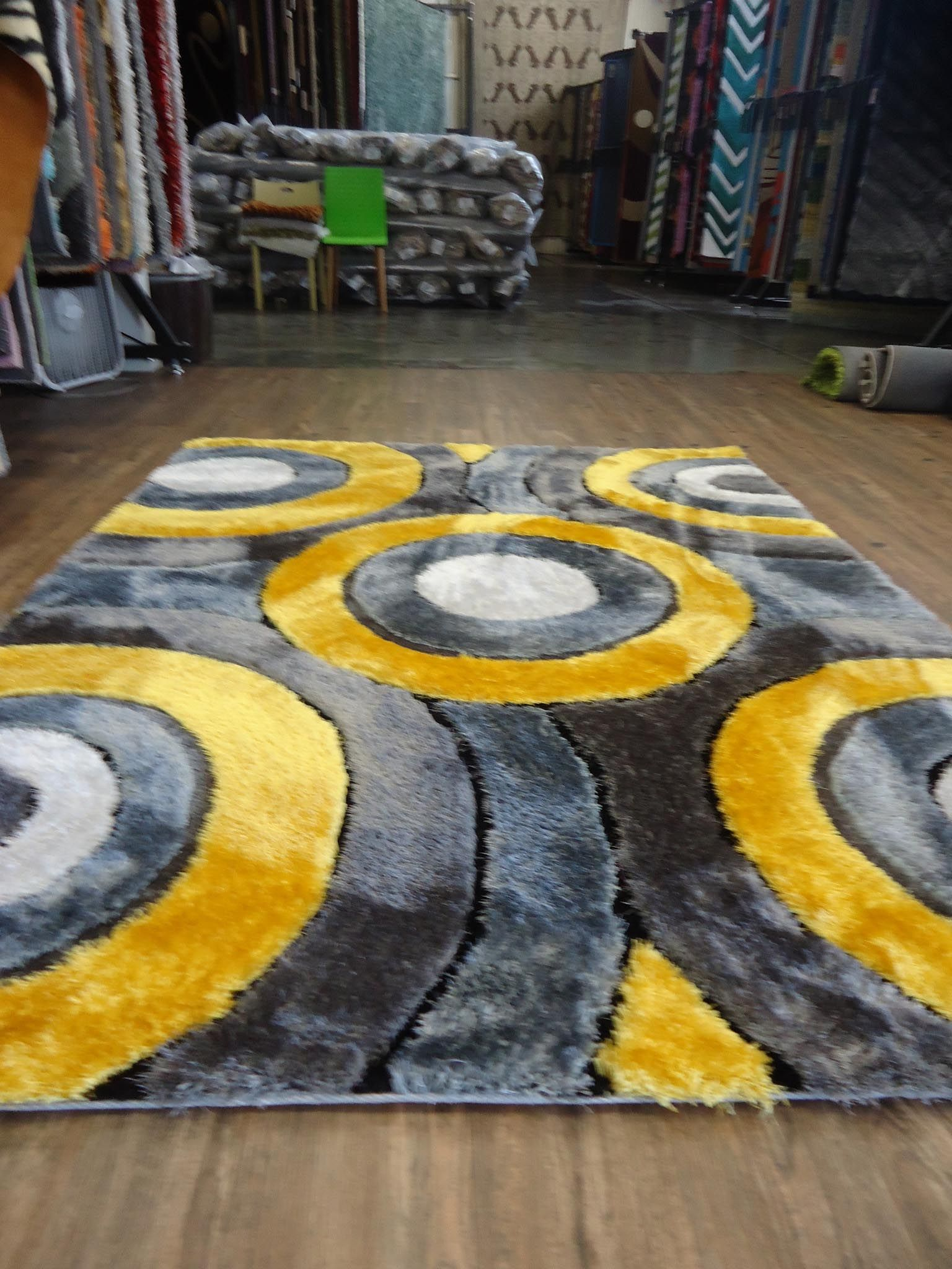 Yellow And Gray Area Rug With Images Yellow Grey Rug Grey