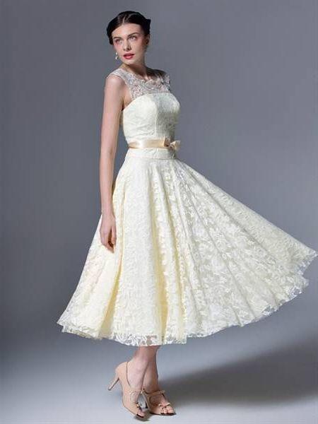 Tea length wedding dresses 2018 images