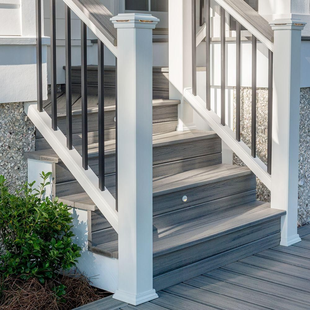 Best Trex Transcend 2 In X 5 1 2 In X 16 Ft Island Mist Square Edge Capped Composite Decking Board 400 x 300
