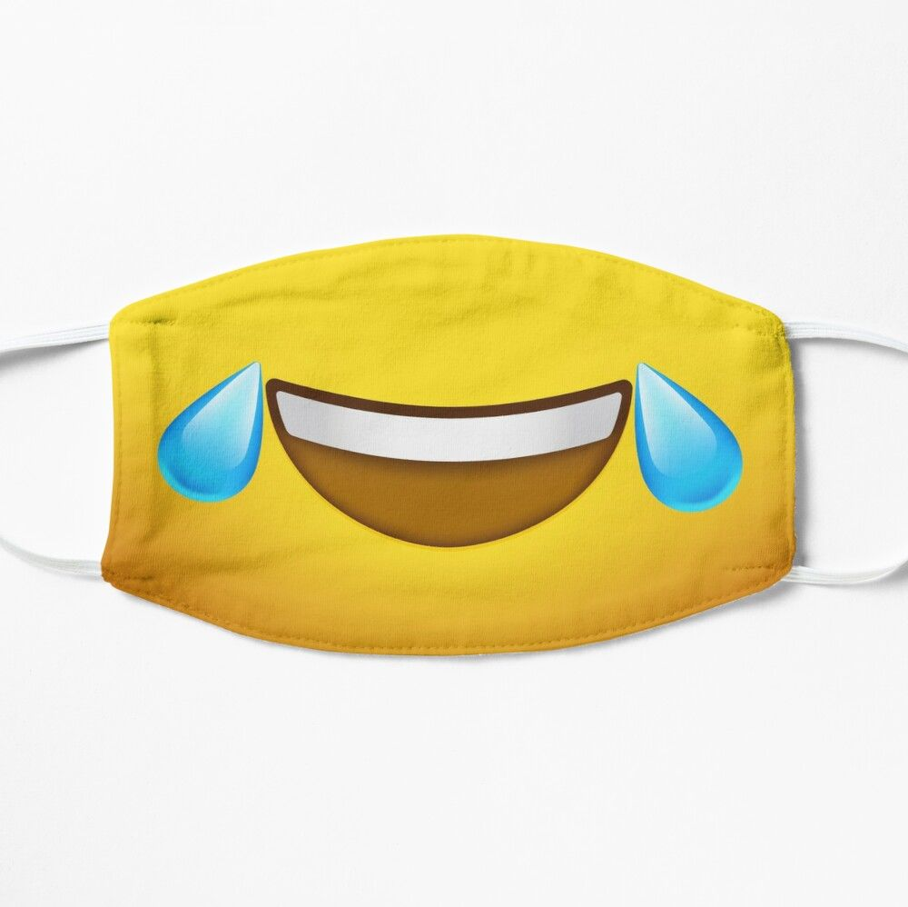 Emoji Face Laughing Tears Mask By Briansmith84 In 2020 Mouth Mask Design Emoji Faces Face Masks For Kids