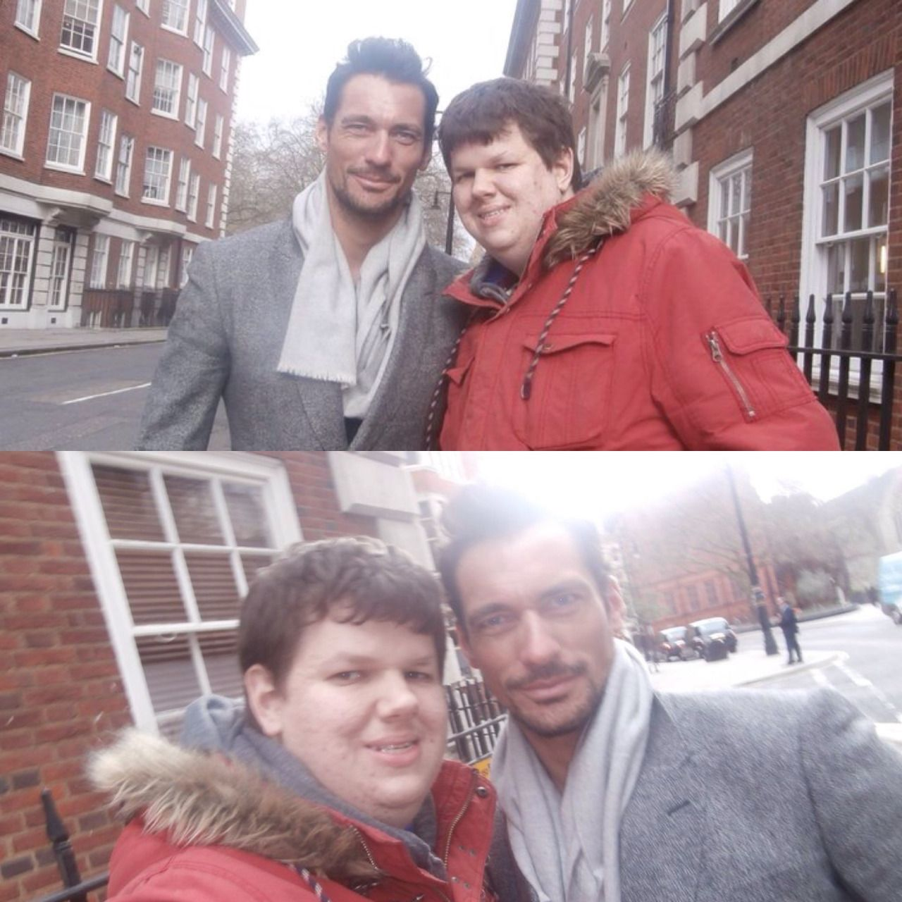 [06/02/16] - David Gandy in London with a fan