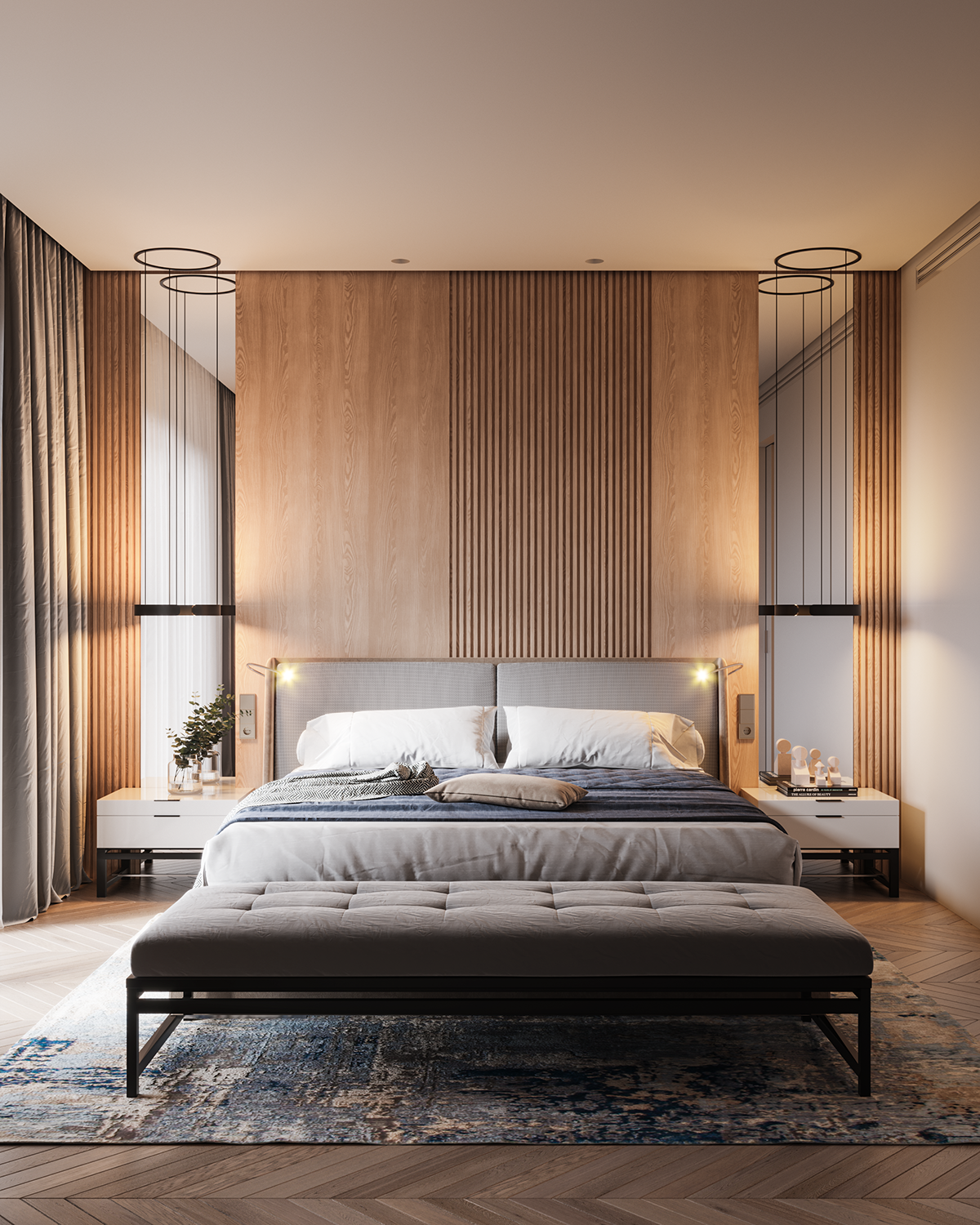 Bedroom In Contemporary Style On Behance: Luxurious Bedrooms, Modern Bedroom