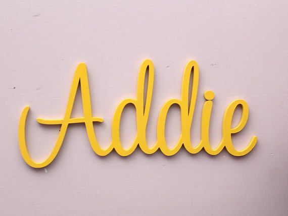 Nursery Wall Letters Large Wooden Letters For Nursery Decor ...