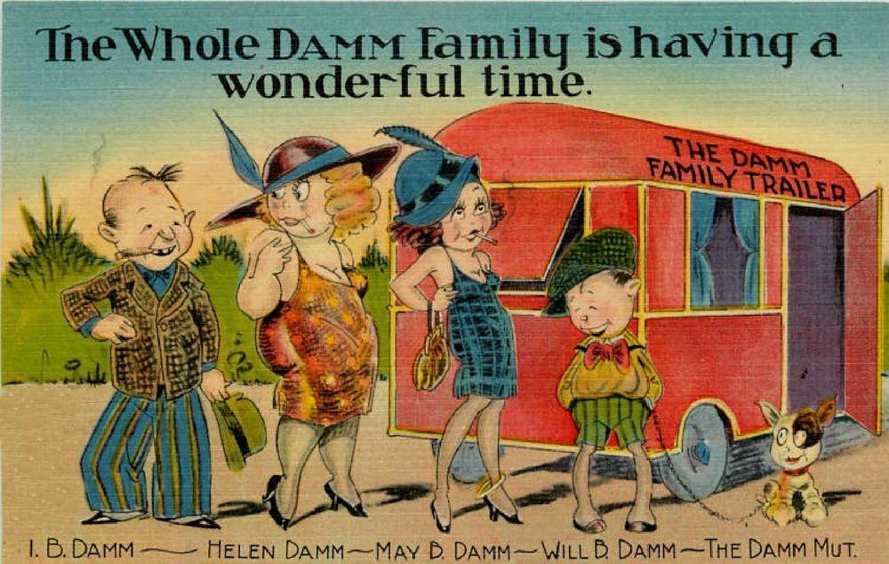 Vintage Travel Trailer Art 1930/'s Elite Camp  Refrigerator Tool  Box  Magnet
