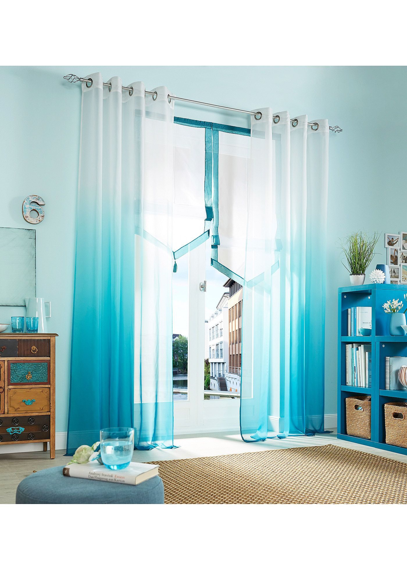 Transparente Gardine Mit Druck 1er Pack Curtains