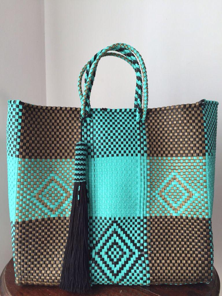 255f5f804f1 Increíbles Bolsas Artesanales!! Bolsa De Plastico Tejidas