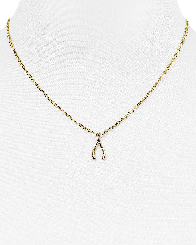kate spade new york wishbone pendant necklace