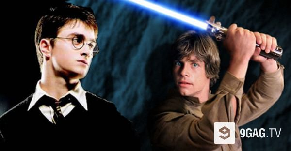This Video Finally Ends The Harry Potter Vs Star Wars Debate 9gag Tv Star Wars Harry Potter Most Viral Videos