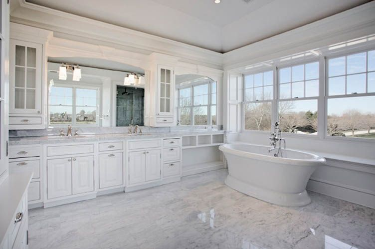 515 Parsonage Lane Sagaponack South Located On 1 80 Pristine Acres Is This New Construction Classic G White Master Bathroom House Carrera Marble Bathroom