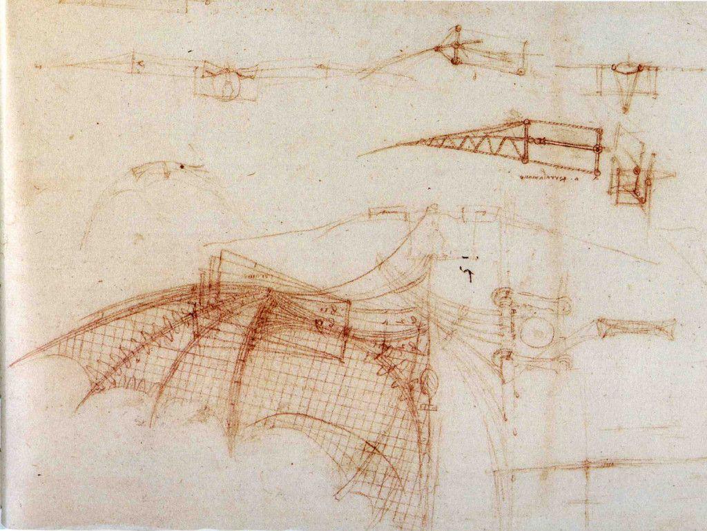 Las Maquinas Voladoras De Da Vinci Leonardo Da Vinci Tatuaje De Aviación Renacimiento Italiano