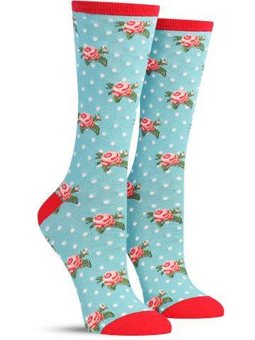 Socksmith Womens Slow Jam Turtle with Strawberry Crew Socks Novelty Footwear New