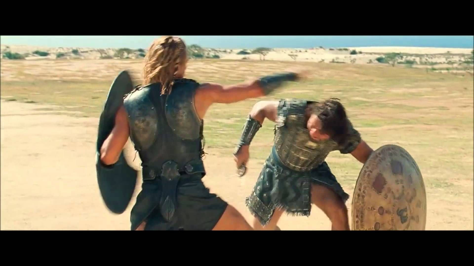 Hector vs Achilles from the movie Troy 2004  | Cine, videos