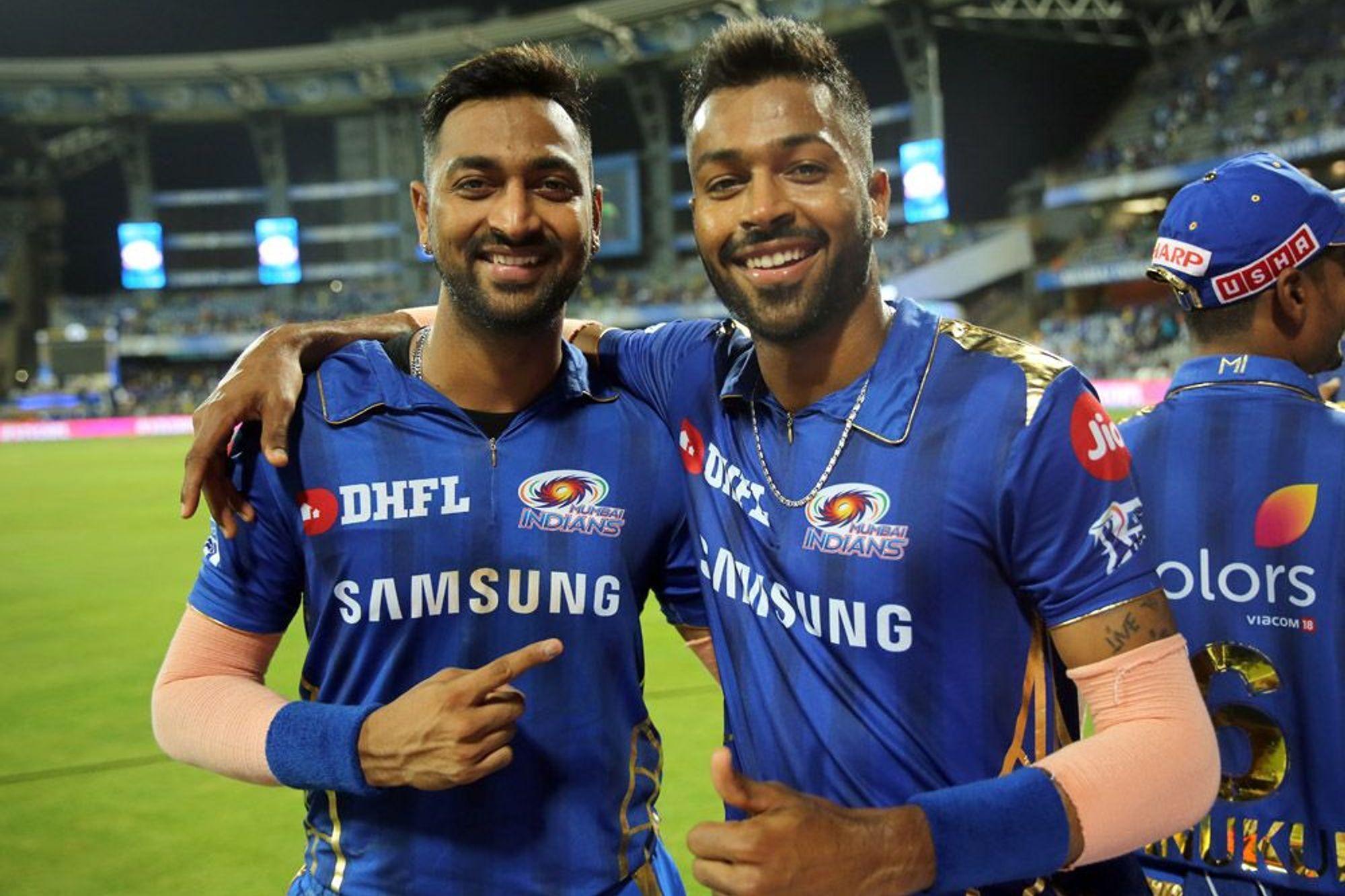 Ipl 2019 I Am Very Happy With The Way Hardik Pandya Is Batting Krunal Pandya Ipl Cricket Teams Chennai Super Kings