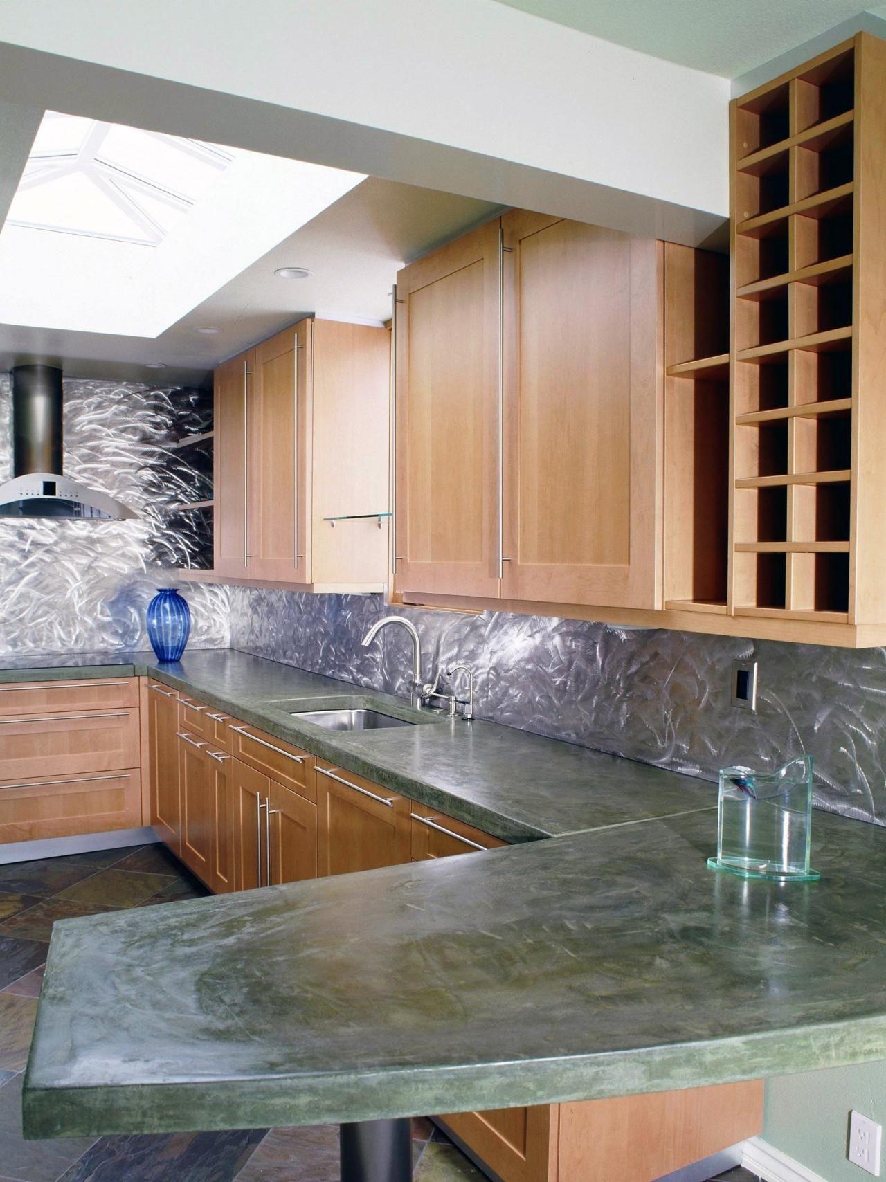 Beliebte Küche Arbeitsplatten  Eine einfache solide Farbe arbeiten