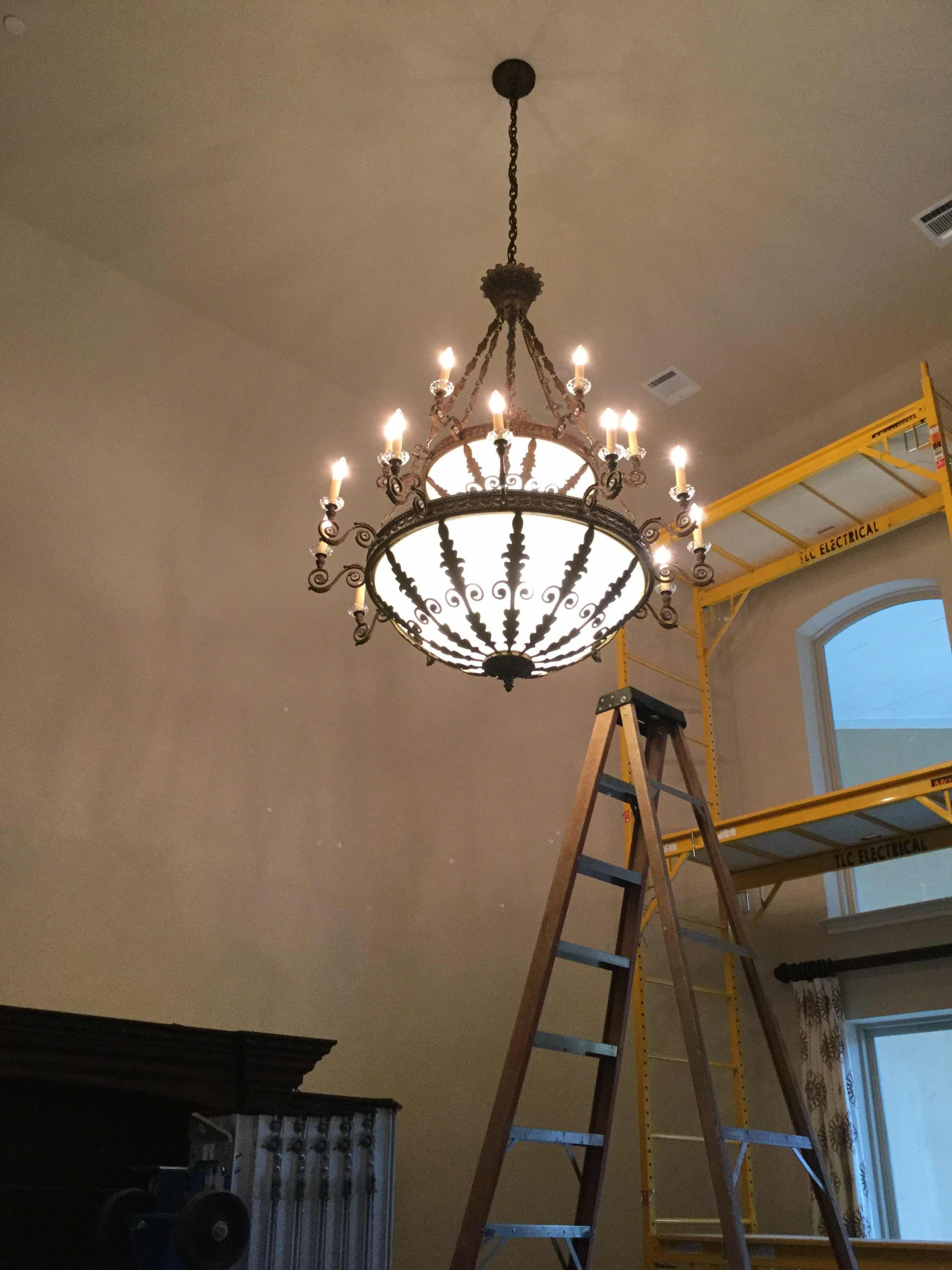 Expert Chandelier Installation Installations Performed On All Sizes And Ceiling Heights