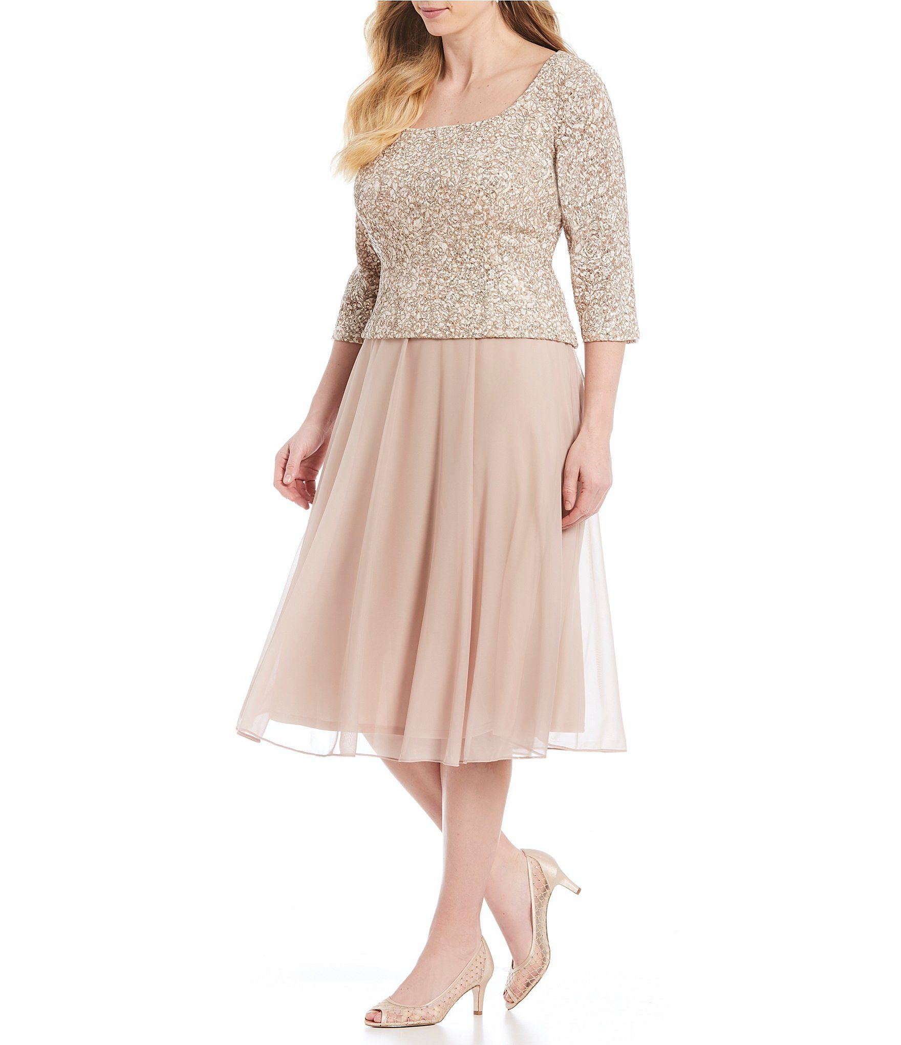 Shop For Alex Evenings Plus Size 3 4 Sleeve Mock 2 Piece Midi Dress At Dillards Com Visit Dillards Plus Size Cocktail Dresses Plus Size Formal Dresses Dresses [ 2040 x 1760 Pixel ]