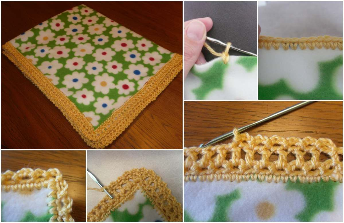 How To edge the blankets using traditional crochet techniques? This kind of work let regenerate old blankets as a new or decorate common material of blankets with this beautiful stitch. Share your final work in our Facebook group.   Only free patterns on Pinterest You need one yard of fleece, se