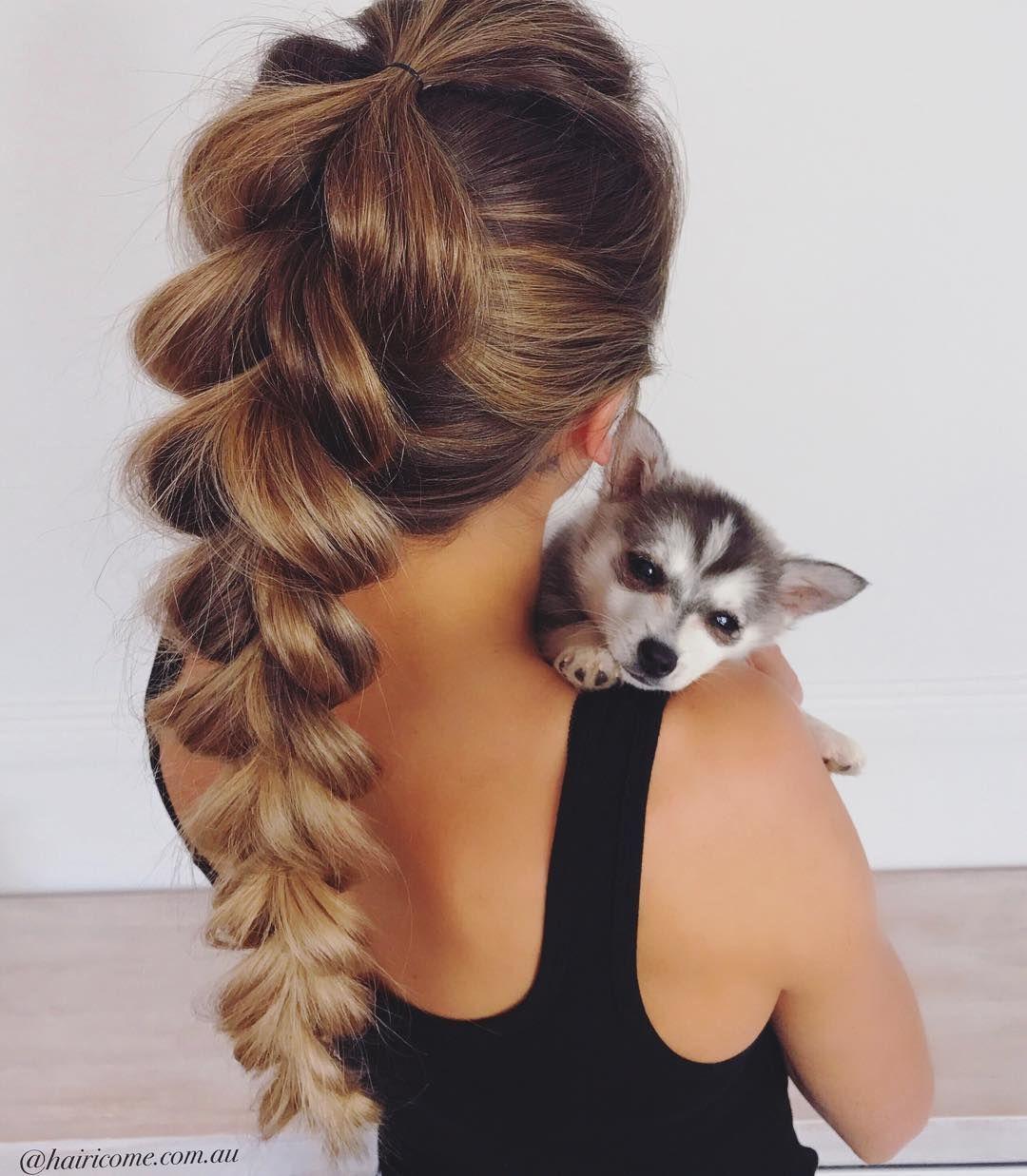 Simple Pull through braid hairstyle