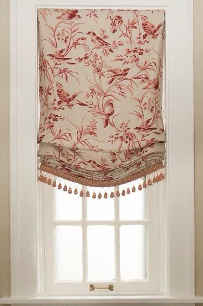 lovely toile shade dreaming shabby chic pinte. Black Bedroom Furniture Sets. Home Design Ideas